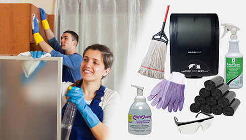 Commercial cleaning and professional maintenance products